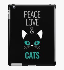 Peace Love And Cats iPad Case/Skin