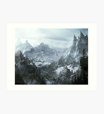 Skyrim winter Art Print