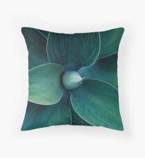 Floral green pattern Throw Pillow