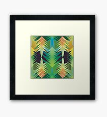 seamless pattern with Christmas tree Framed Print