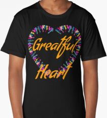 Greatful heart-hands beautiful print  Long T-Shirt