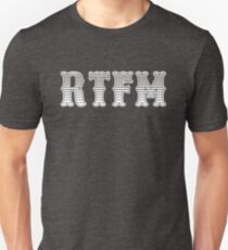 RTFM - Read The Fine Manual White Western Style Design T-Shirt