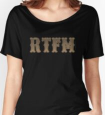 RTFM - Read The Fine Manual Brown Western Style Design Women's Relaxed Fit T-Shirt