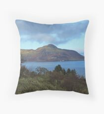 Holy Isle view Throw Pillow
