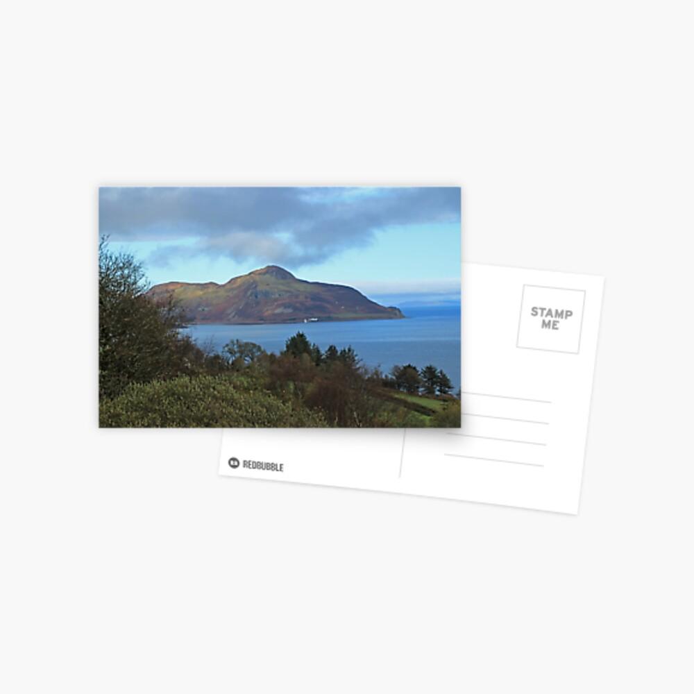 Holy Isle view Postcard