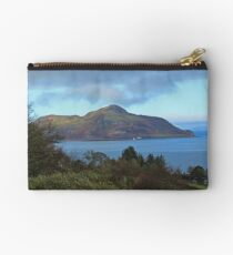 Holy Isle view Zipper Pouch