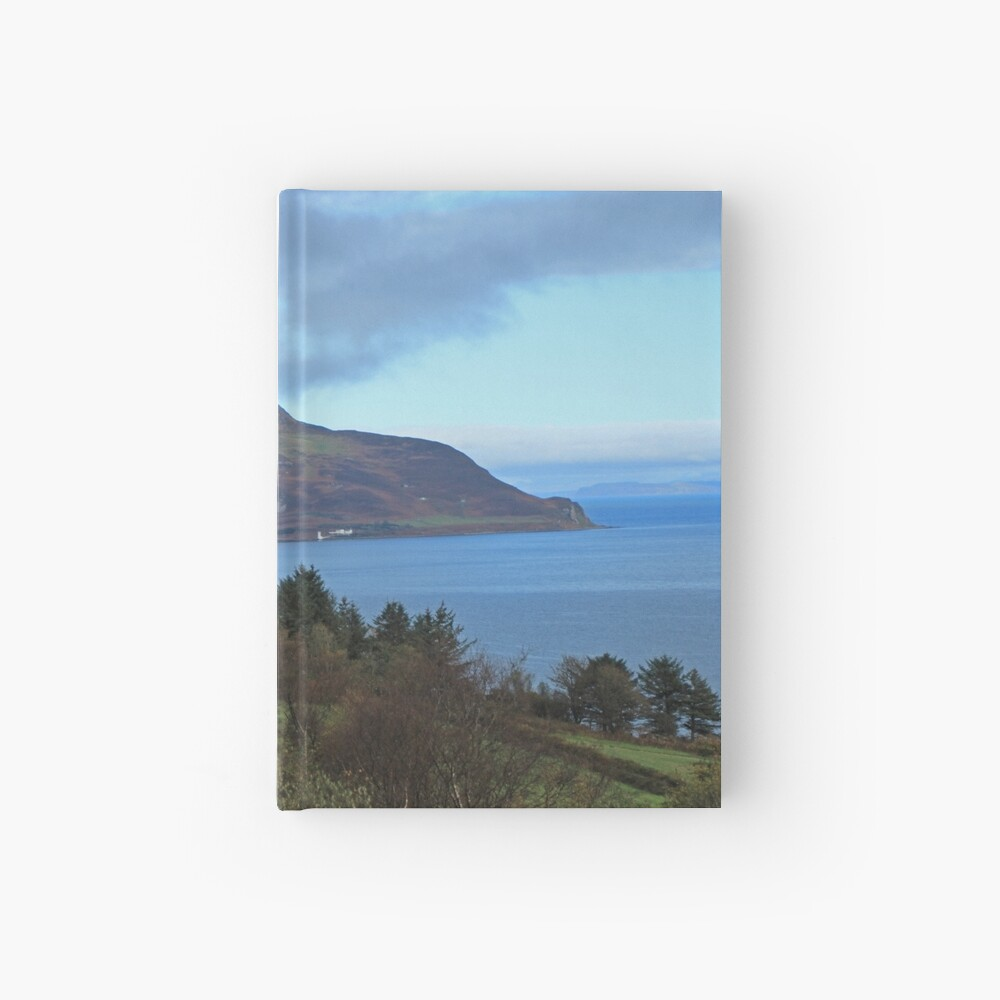 Holy Isle view Hardcover Journal