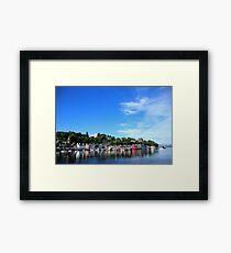 Blue Sky in Balamory Framed Print