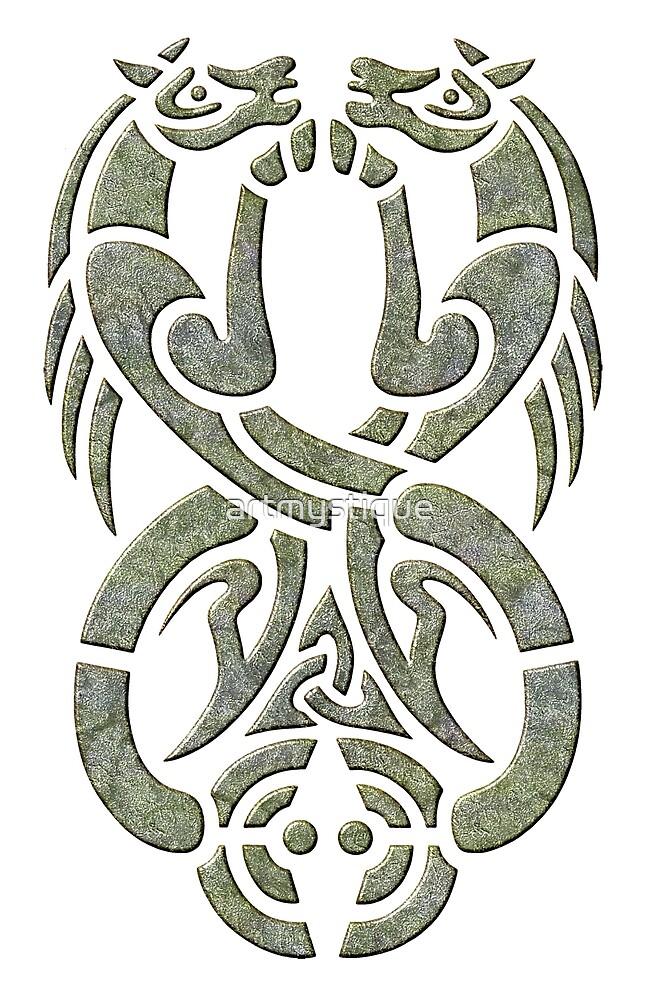 Celtic Water Kelpie-Green Version by artmystique