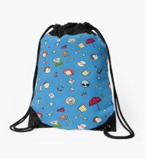 x pattern  Drawstring Bag