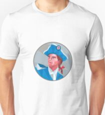 American Patriot Circle Low Polygon Unisex T-Shirt