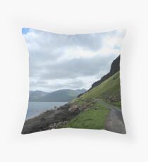 Island road Throw Pillow