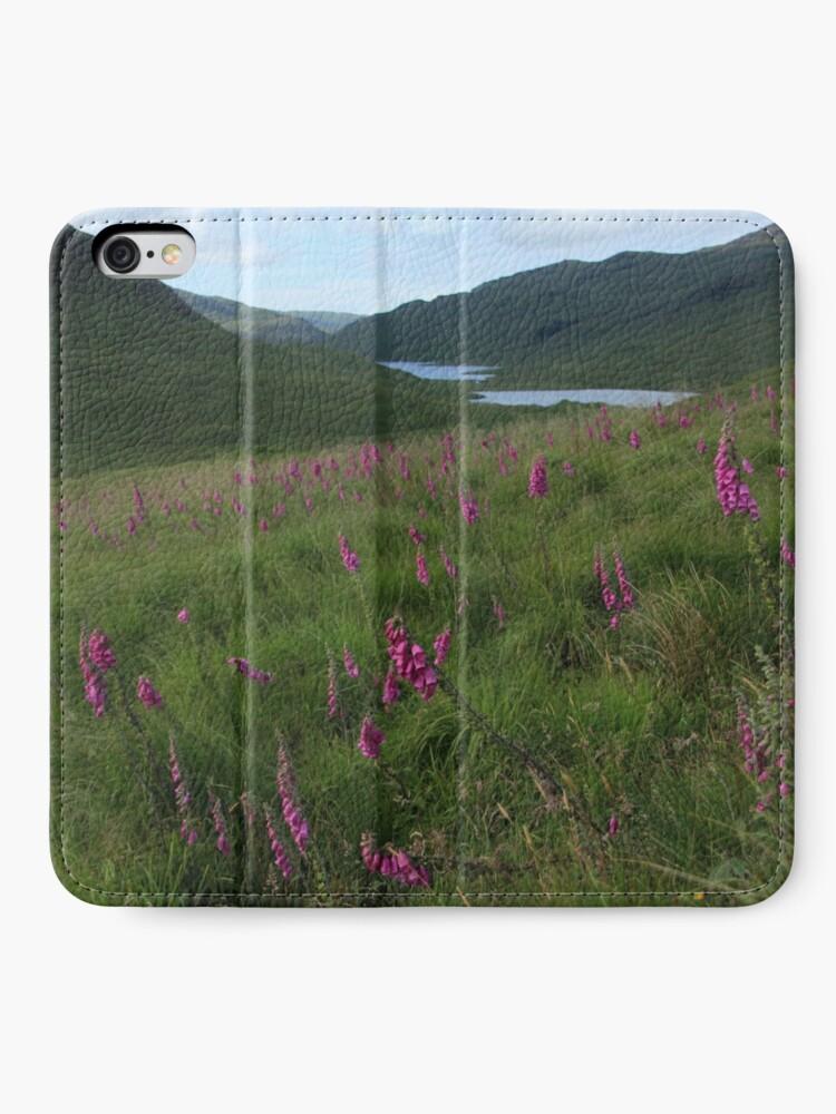 Alternate view of Field of foxgloves II iPhone Wallet