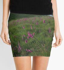 Field of foxgloves II Mini Skirt