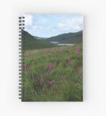 Field of foxgloves II Spiral Notebook