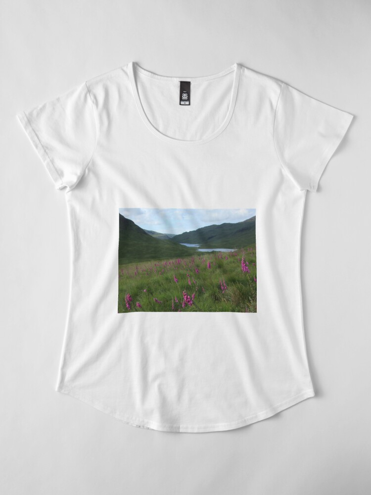 Alternate view of Field of foxgloves I Premium Scoop T-Shirt