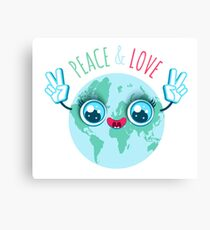 Peace and love. Canvas Print