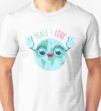 Peace and love. T-Shirt