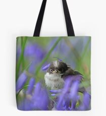 Bird in the blue Tote Bag