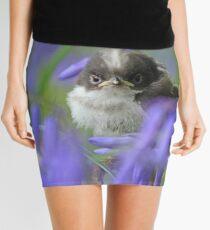 Bird in the blue Mini Skirt