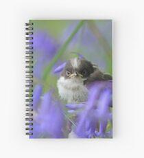 Bird in the blue Spiral Notebook