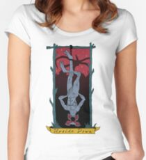 UPSIDE DOWN Women's Fitted Scoop T-Shirt