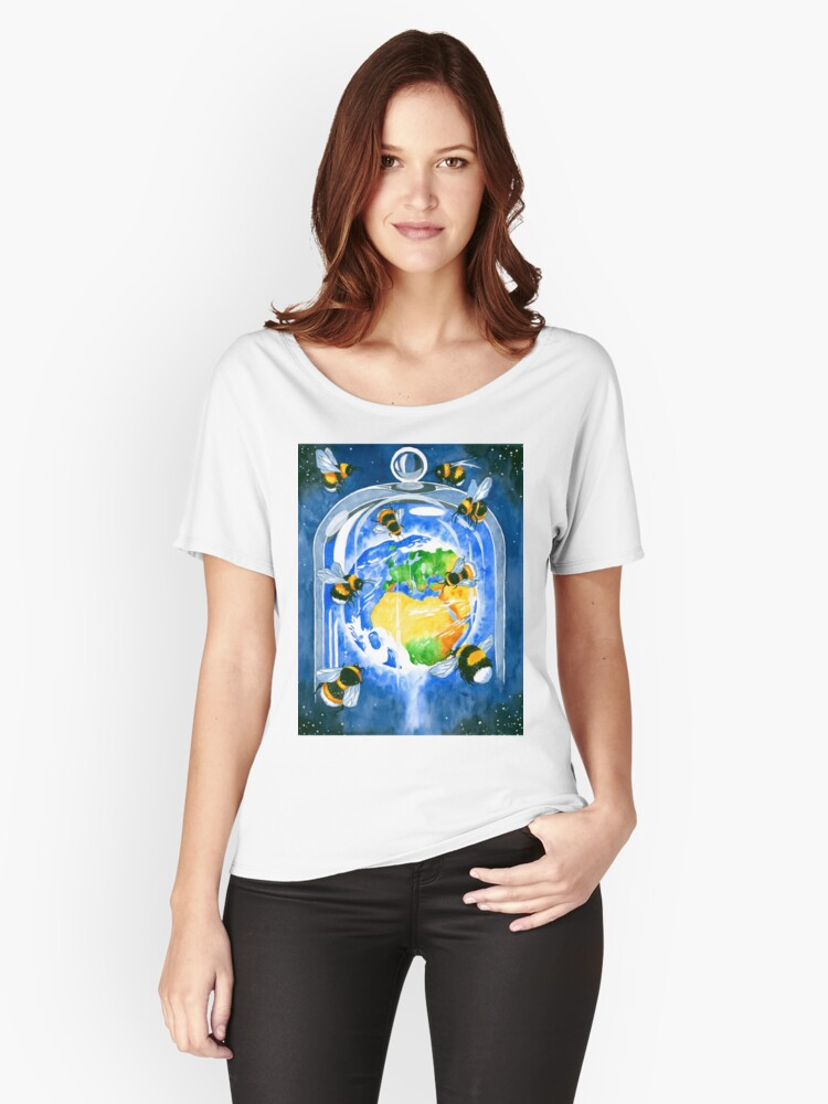 save the bees Women's Relaxed Fit T-Shirt Front