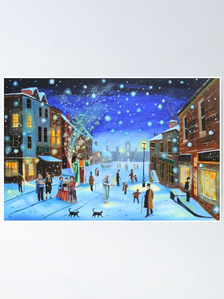 Alternate view of A Christmas Carol Scrooge ghost of Christmas present Poster