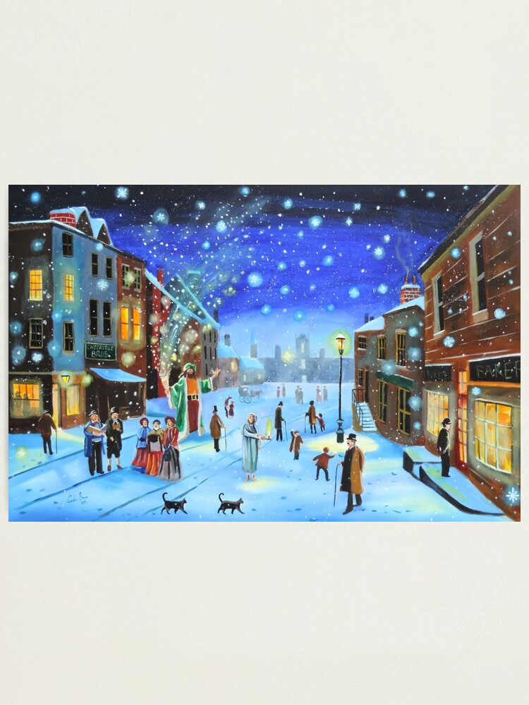 Alternate view of A Christmas Carol Scrooge ghost of Christmas present Photographic Print