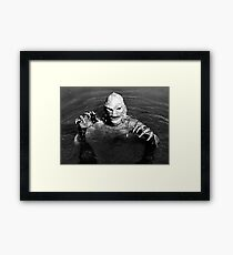 creature lagoon  Framed Print