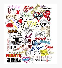 Pop Music Icons Photographic Print