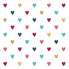 Colorful Mini Hearts by daisy-beatrice
