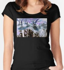 Mushrooms in The Undergrowth  Women's Fitted Scoop T-Shirt
