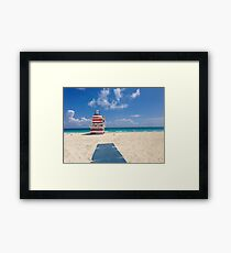 Miami Beach Blue Framed Print