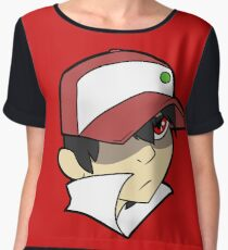 Trainer Red Bust Women's Chiffon Top