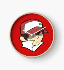 Trainer Red Bust Clock