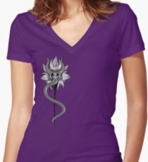 """Divan"" Ink Demon Women's Fitted V-Neck T-Shirt"