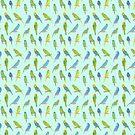 Fun Budgie Pattern by maggiedrawsgood