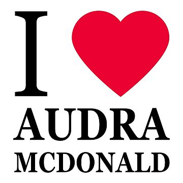 I love Audra McDonald by elisc
