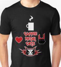 Camiseta unisex Café, metal, gatos = AMOR