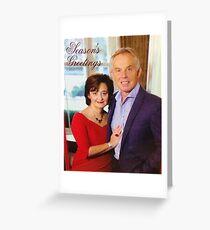 Tony and Cherie Blair - Season's Greetings Greeting Card