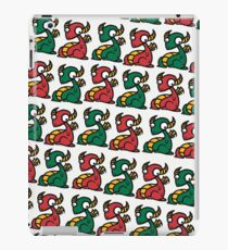 Craig the Dragon - Green Red Yellow Pattern iPad Case/Skin