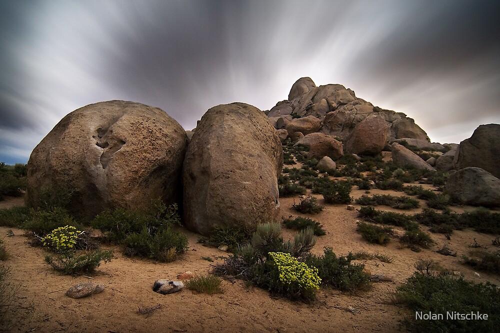 Buttermilk Boulders by Moonlight by Nolan Nitschke