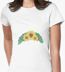 Sunflower Cluster Fitted T-Shirt
