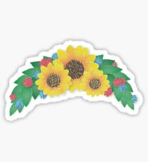 Sunflower Cluster Sticker
