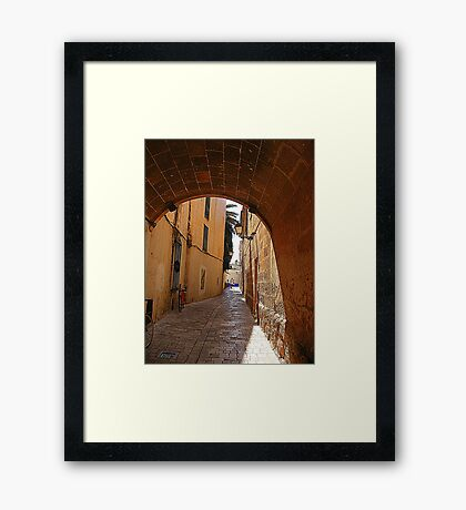 An Alley In Ciutadella............................Menorca Framed Print