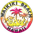 Waikiki Beach Hawaii Honolulu South Pacific Retro by MyHandmadeSigns