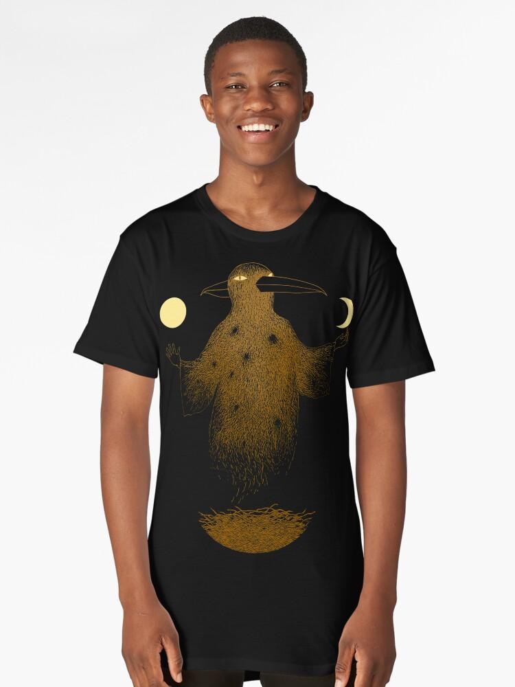 Crow Moon Shaman Long T-Shirt Front