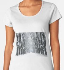 Winter landscape Women's Premium T-Shirt