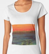 Landscape of Fire and Water Women's Premium T-Shirt